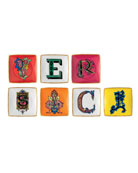 Versace Holiday Alphabet Side Plates, Set of 7