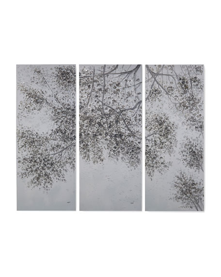 """John-Richard Collection """"Extended Boughs"""" Triptych by Teng Fei"""