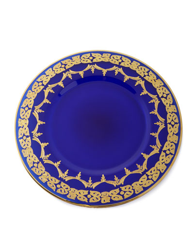 Blue Oro Bello Charger Plates, Set of 4