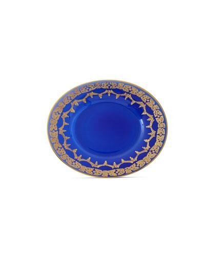 Blue Oro Bello Dessert Plates, Set of 4