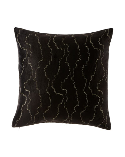 Donna Karan Collection Velvet Stitch Decorative Pillow