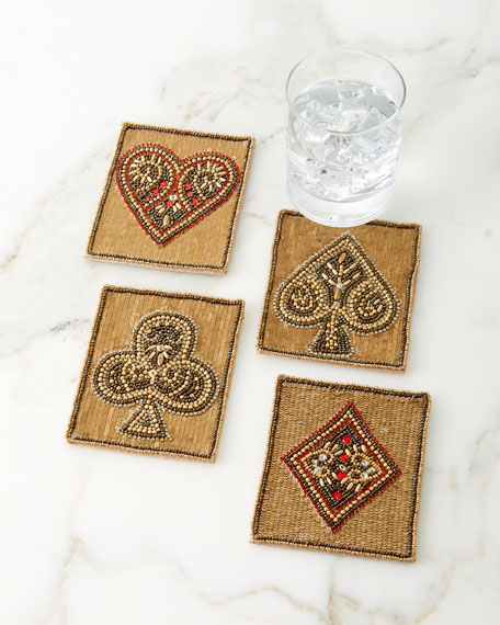 Kim Seybert Poker Coasters, Set of 4