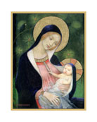 Caspari Madonna of the Fir Tree Holiday Cards