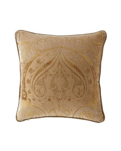 Damask Velvet Pillow, 18
