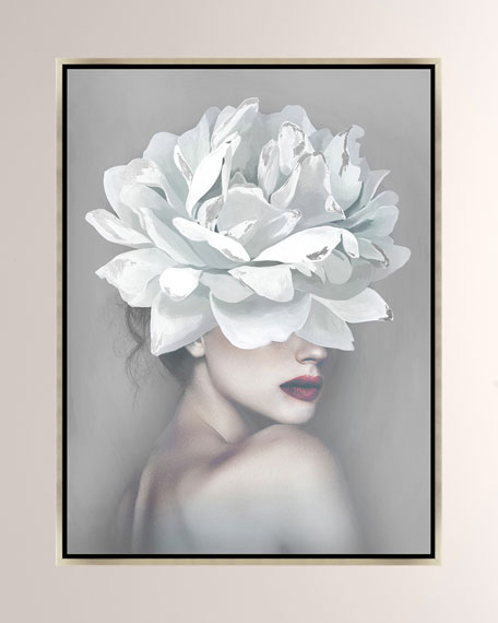 Flower Of A Woman I Giclee On Canvas Wall Art With Frame