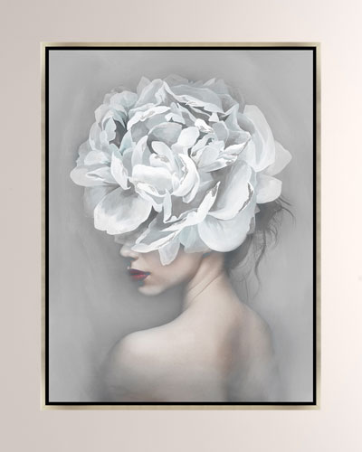 Flower Of A Woman Ii Giclee On Canvas Wall Art With Frame