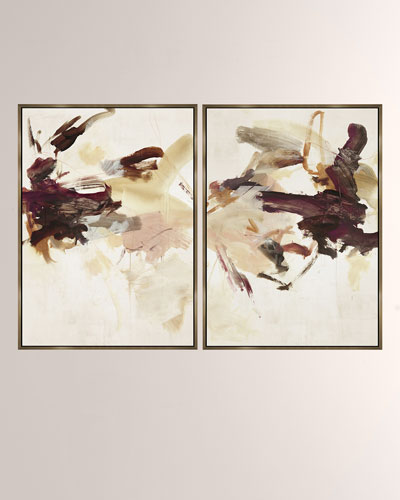 Heart Throb Giclee On Canvas Wall Art With Frame, Set of 2