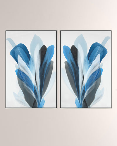 Blossom Giclee On Canvas Wall Art With Frame, Set Of Two