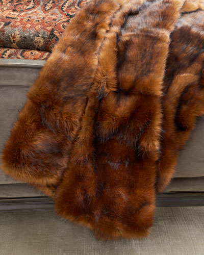 Cucina Faux Fur Throw with Velvet Backing