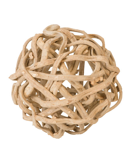 """The Phillips Collection 20"""" Vine Ball Decor"""