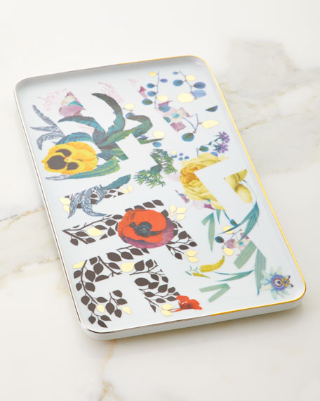 Christian Lacroix Primavera Small Rectangular Tray