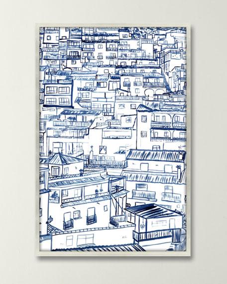 """""""Mijas"""" Giclee in Shadow Box by Inspire Studio"""