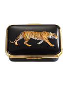 Halcyon Days Magnificent Wildlife Tiger Enamel Box