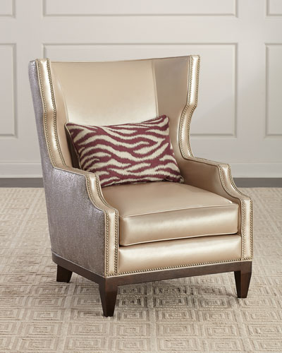 Diorio Leather Wing Chair