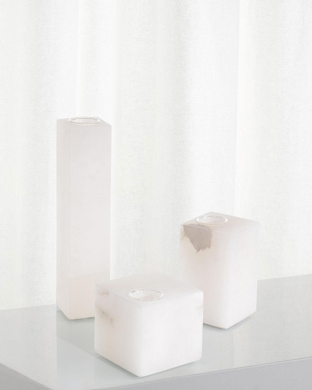 Cubist Alabaster Vases, Set of 3