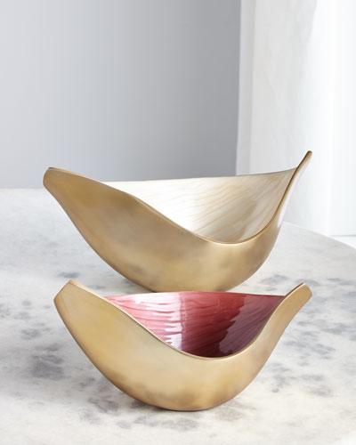 Elegant Swoosh Bowls, Set of 2