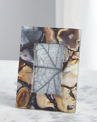 John-Richard Collection Rich Browns Clear Agate Picture Frame,
