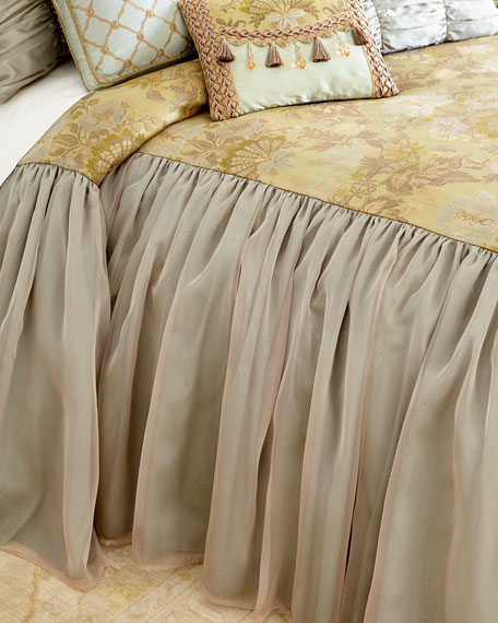 Dian Austin Couture Home Petit Trianon Skirted Queen Coverlet