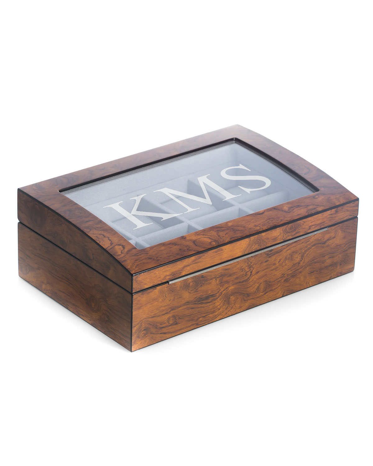 Men's Personalized Wooden Watch & Accessory Storage Case