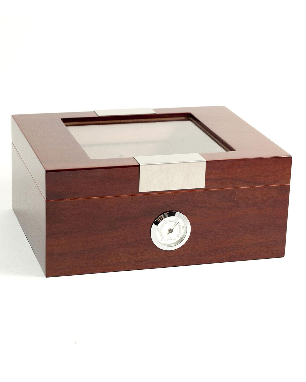 Men's Personalized Wooden Cigar Humidor