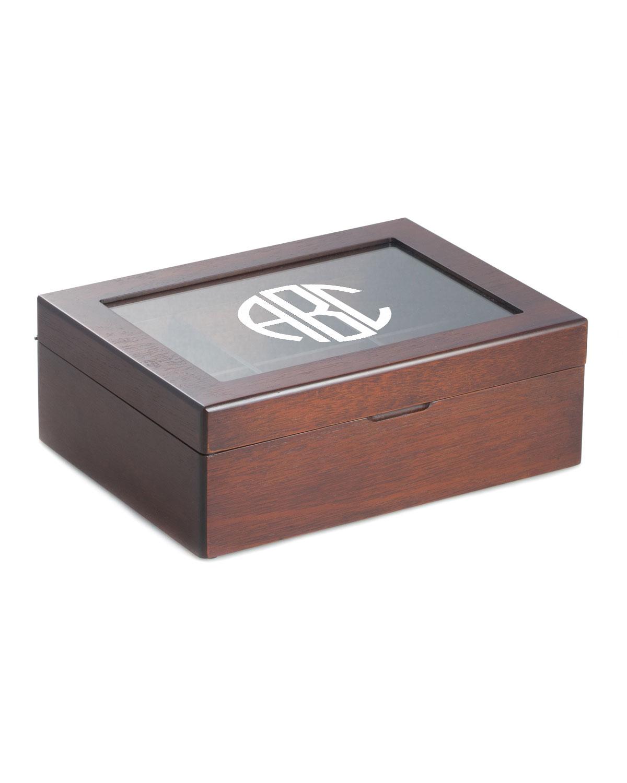 Men's Personalized Wooden Tea Box