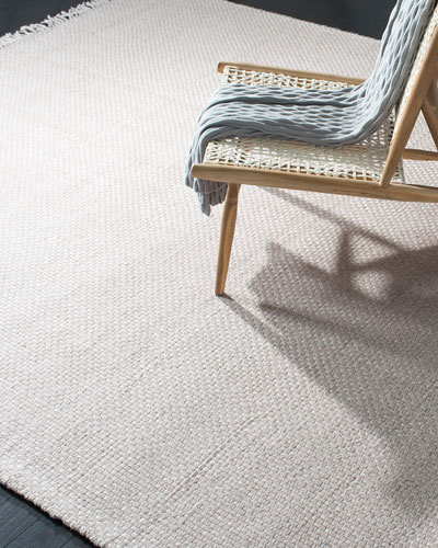 Amalie Pewter Hand-Woven Flat Weave Rug, 5' x 8'