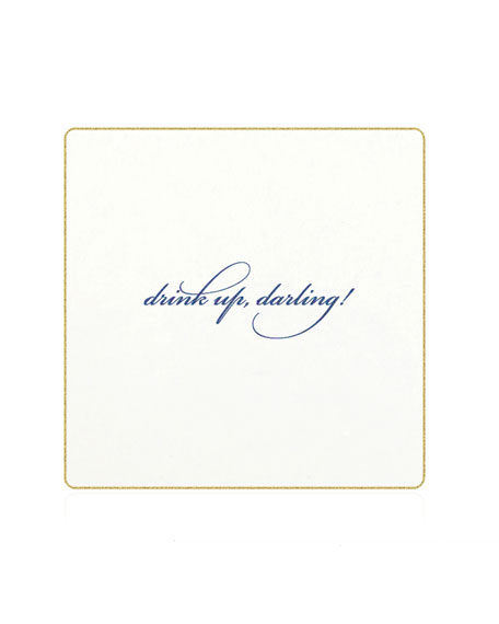 Bell'INVITO Drink Up, Darling Coasters, Set of 18