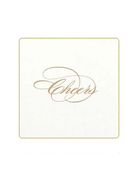 Bell'INVITO Cheers Coasters, Set of 18