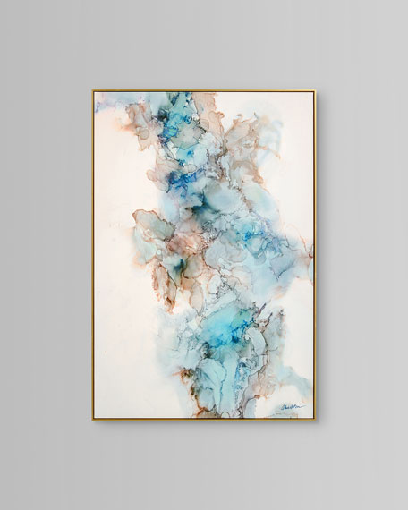 """John-Richard Collection """"Blue Current"""" Wall Art by Mark McDowell"""