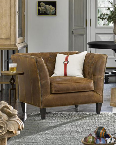 Schmidt Tufted Leather Chair