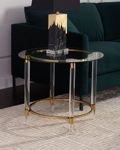 Sinclair Glass Accent Table
