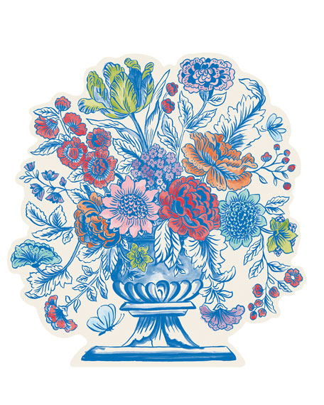 Hester & Cook Set of 12 Jardiniere Paper Placemat