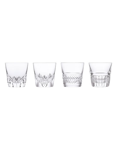 Versailles King Louis Double Old Fashioned Glasses, Set of 4