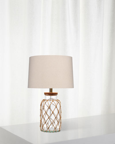 Hugo Glass & Rope Table Lamp