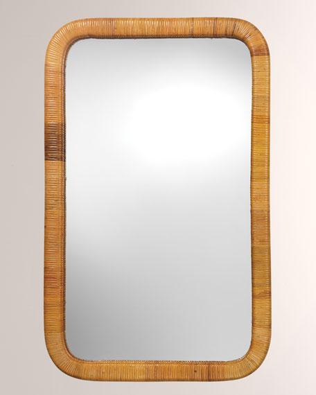 Kai Rectangle Rattan Mirror