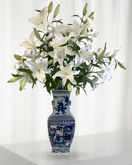 Winward Casablanca Lily in Chinese Vase