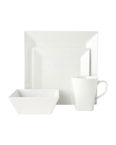 16-Piece Delray Square Dinnerware Set