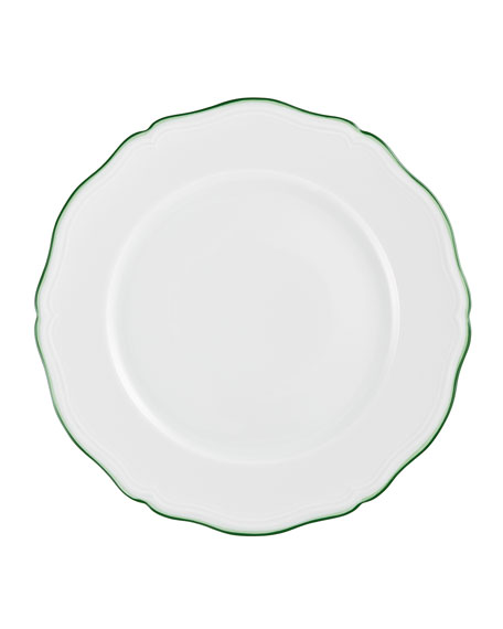 Raynaud Touraine Double Filet Green Buffet Plate