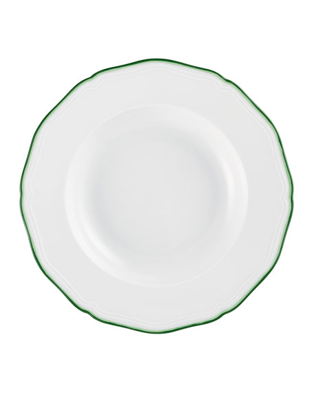 Raynaud Touraine Double Filet Green Rim Plate