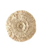Austin Horn Collection Juniper Round Ruffle Pillow