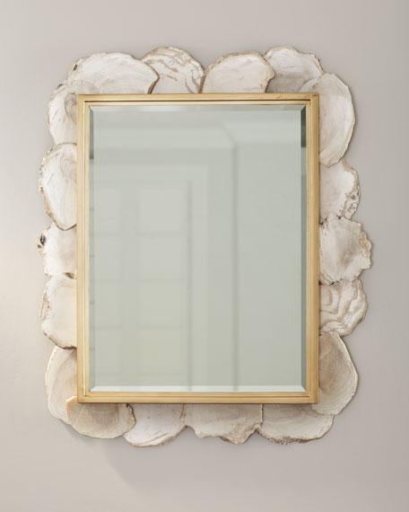 Fossilized Clam Rectangular Mirror