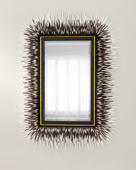 Janice Minor Porcupine Quill Rectangle Mirror