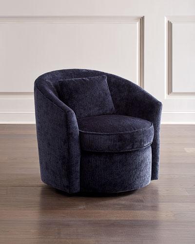 Elizabeth Midnight Blue Swivel Chair