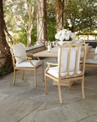 Alexandra Outdoor Double-Urn Pedestal Table and Matching Items