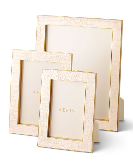 "AERIN Classic Croc Leather Frame, 8"" x 10"""