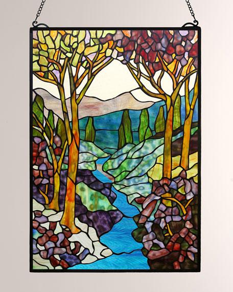 Dale Tiffany Tiffany Landscape Window Panel