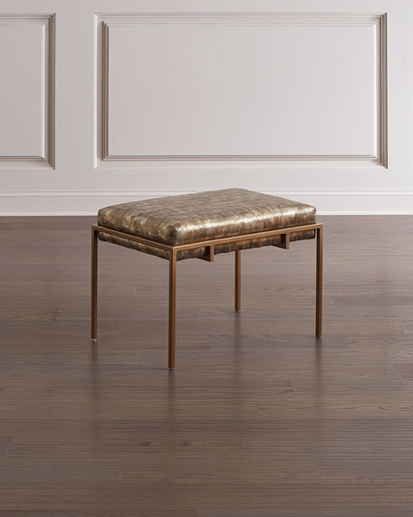 John-Richard Collection Metal Gold Upholstered Bench