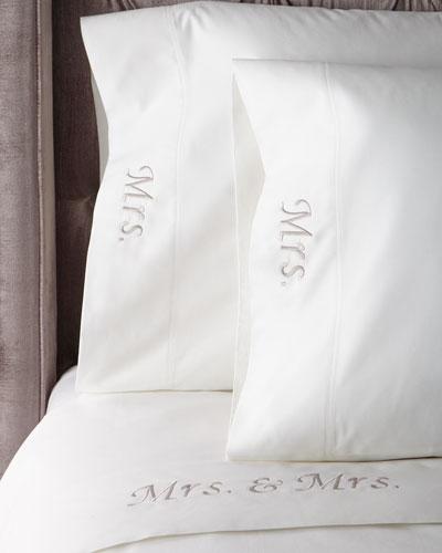 Mrs. & Mrs. 300-TC Queen Sheet Set