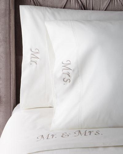 Mr. & Mrs. 300-TC Queen Sheet Set
