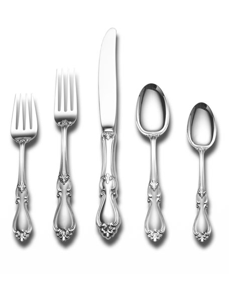 Towle Silversmiths Queen Elizabeth 5-Piece Dinner Flatware Set
